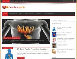 heartburnpedia.com screenshot