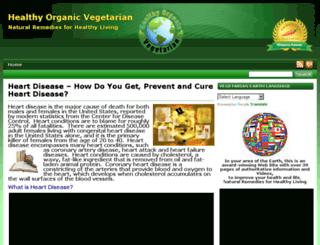 heartdisease.healthyorganicvegetarian.com screenshot