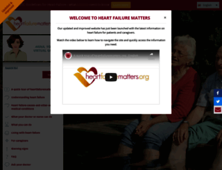 heartfailurematters.org screenshot