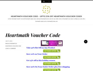 heartmathvouchercode.wordpress.com screenshot