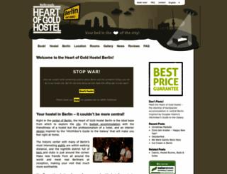heartofgold-hostel.de screenshot