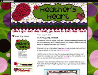 heathersfirstgradeheart.blogspot.com screenshot
