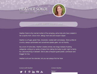 heathersokol.com screenshot