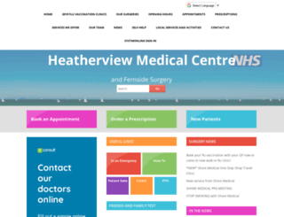 heatherviewmedical.co.uk screenshot