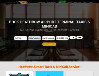 heathrow-taxi-booking.co.uk screenshot