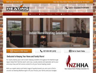 heatingmarlborough.co.nz screenshot
