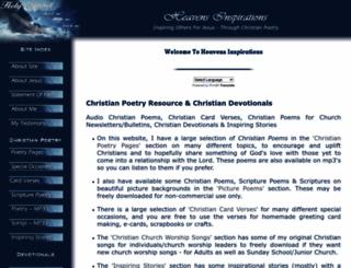 heavensinspirations.com screenshot