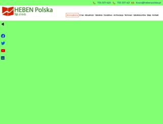 hebenpolska.pl screenshot