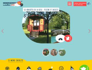 hebergement-insolite.com screenshot