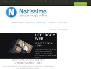 hebergement.netissime.com screenshot