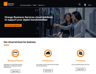 hebergementweb.orange-business.com screenshot