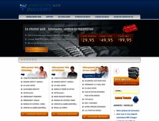 hebergementwebduquebec.com screenshot