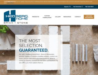 hedbergaggregates.com screenshot
