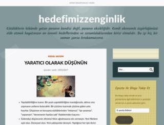 hedefimizzenginlik.wordpress.com screenshot