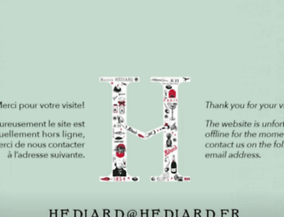 hediard.fr screenshot