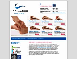 heelandarchpainclinic.com.au screenshot