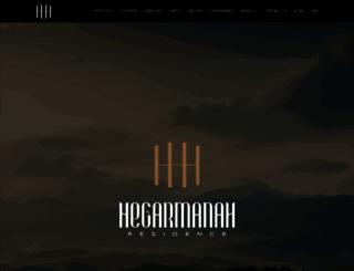 hegarmanahresidence.com screenshot