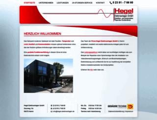 hegel-elektroanlagen.de screenshot