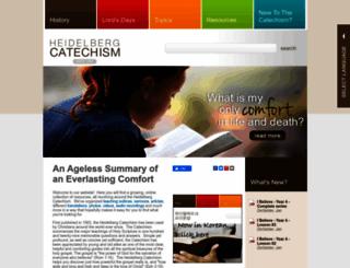 heidelberg-catechism.com screenshot