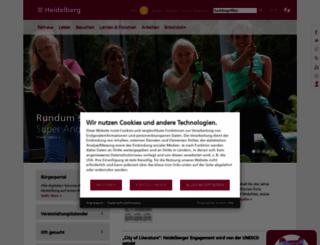 heidelberg.de screenshot