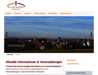 heidenburg.de screenshot