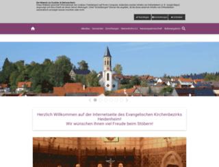 heidenheim-evangelisch.de screenshot