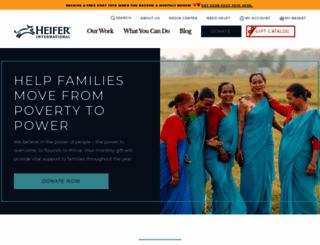 heifer.org screenshot