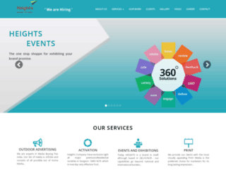 heightsevents.com screenshot