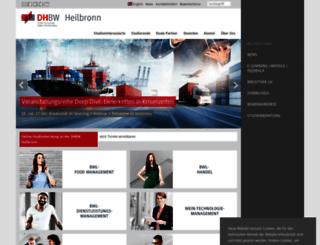 heilbronn.dhbw.de screenshot