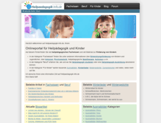 heilpaedagogik-info.de screenshot