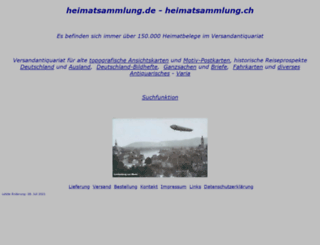 heimatsammlung.ch screenshot