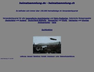 heimatsammlung.de screenshot