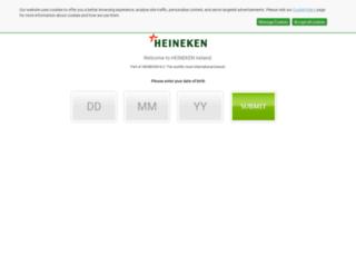 heinekenireland.com screenshot