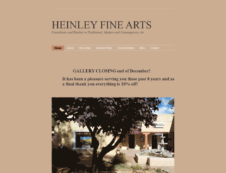 heinleyfineartsw.com screenshot