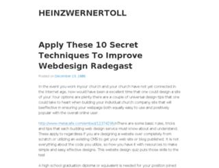 heinzwernertoll.wordpress.com screenshot