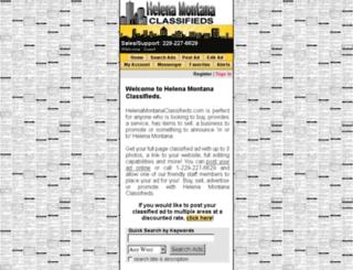 helenamontanaclassifieds.com screenshot