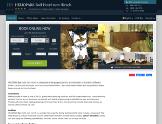 heliopark-bad-zum-hirsch.h-rez.com screenshot