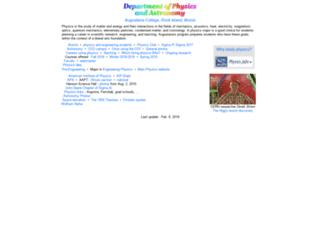 helios.augustana.edu screenshot