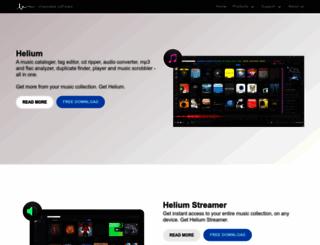 helium-music-manager.com screenshot