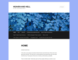 hellandheaventestimonies.wordpress.com screenshot