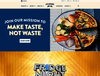 hellmanns.com screenshot