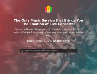 hello.concertwith.me screenshot