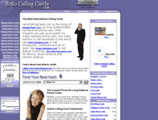 hellocallingcards.com screenshot