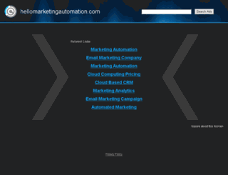 hellomarketingautomation.com screenshot