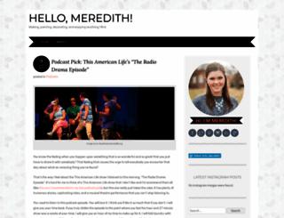 hellomeredith.wordpress.com screenshot