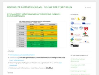 helmholtz-bonn.de screenshot