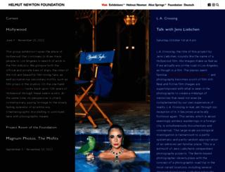 helmut-newton.com screenshot