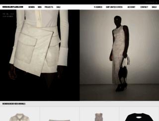 helmutlang.com screenshot