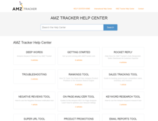 help.amztracker.com screenshot