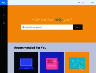 help.aol.co.uk screenshot